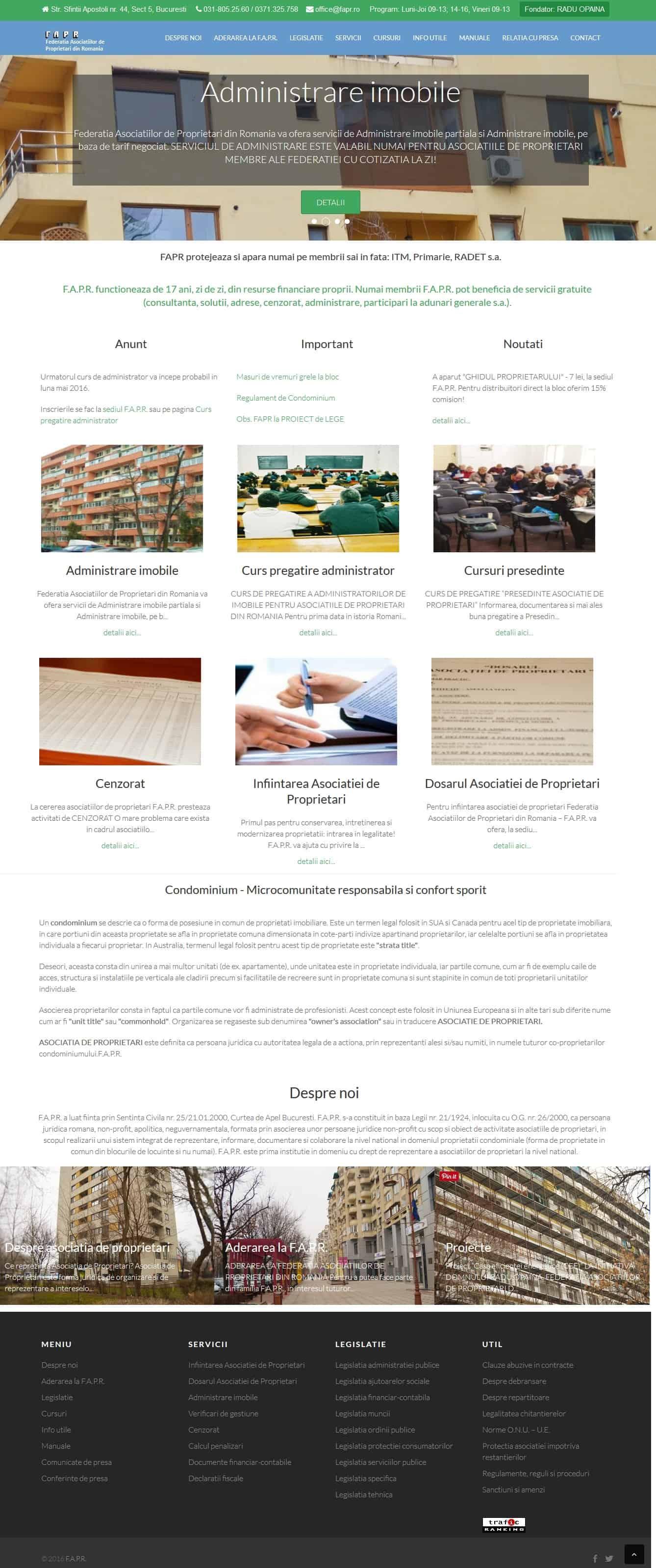 fapr, Federatia Asociatiilor de Proprietari din Romania, fapr.ro
