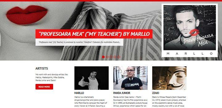 Audiogaterecords.ro – Site de prezentare pentru o casa de discuri