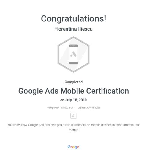 google-mobile-certificat
