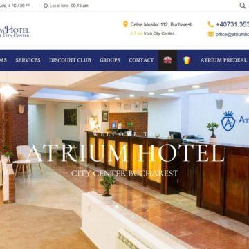 Atriumhotels.ro – Site de prezentare lant hotelier cu optiune de booking