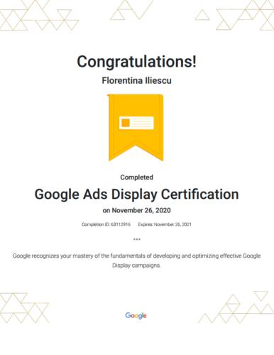 Google Ads Display Certification Google