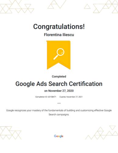 Google Ads Search Certification Google